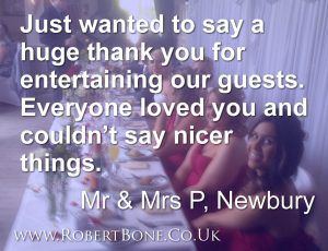Donnington Valley Wedding Magician Quote
