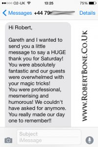 Winchester Wedding Magic Testimonial