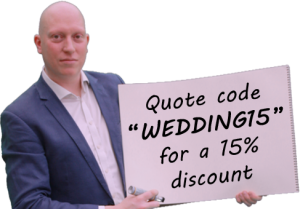 discount for wedding magician quote