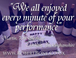 Cookham Birthday Magician Quote