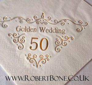 golden wedding anniversary magician