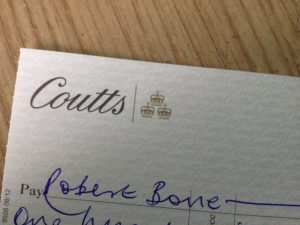 coutts cheque robert bone magician