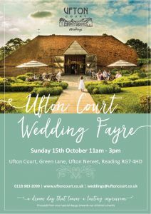 Ufton Court Wedding Fair Oct 2017