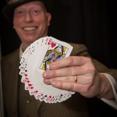 Magic Mad Hatter at Alice in Wonderland event in Nottingham